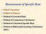 measurement of specific heat