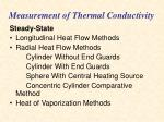 measurement of thermal conductivity