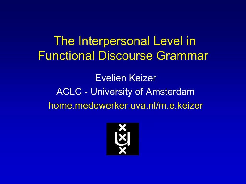 the interpersonal level in functional discourse grammar l.