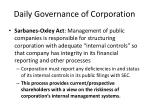 daily governance of corporation