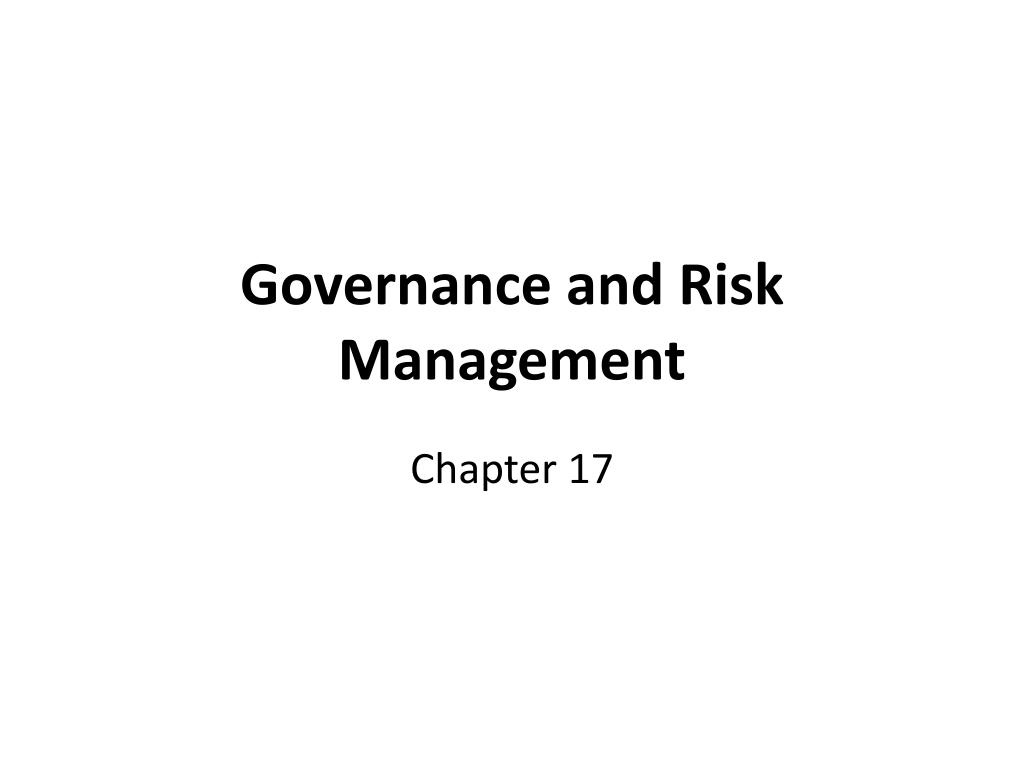 governance and risk management l.
