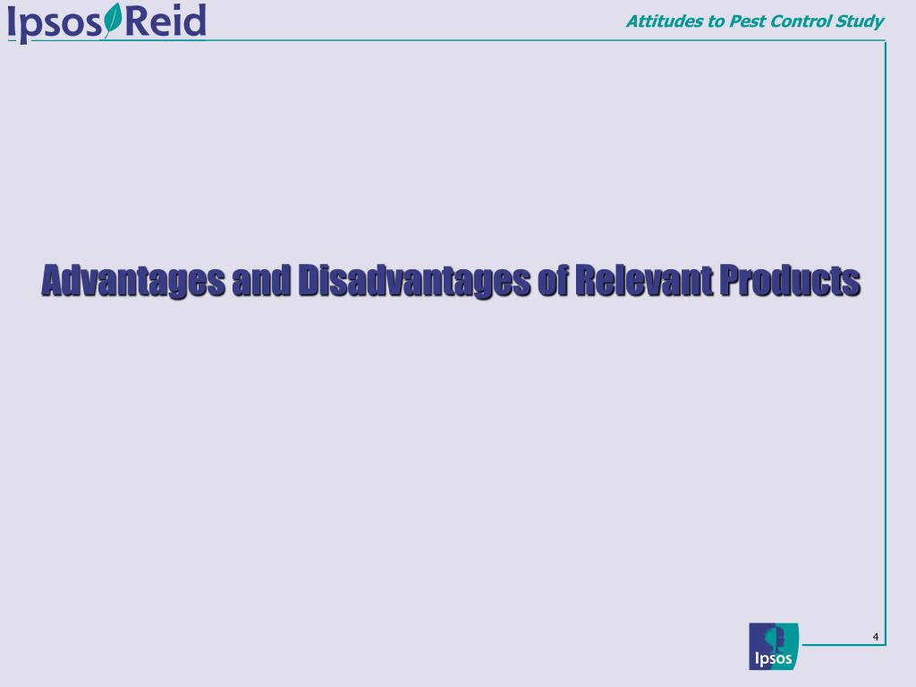Advantages and Disadvantages of Relevant Products