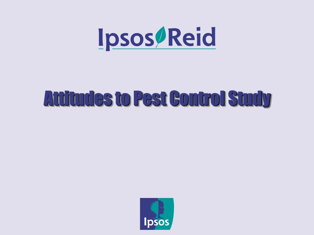 attitudes to pest control study l.