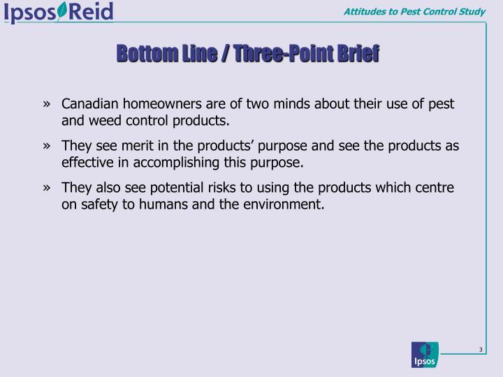 Bottom line three point brief