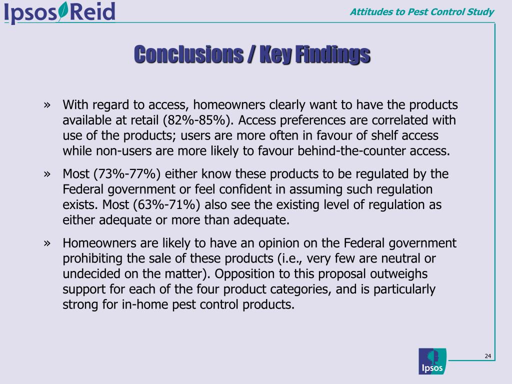 Conclusions / Key Findings