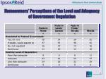 homeowners perceptions of the level and adequacy of government regulation