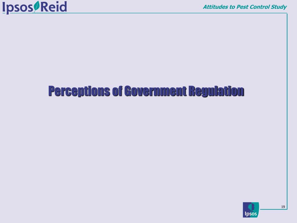 Perceptions of Government Regulation