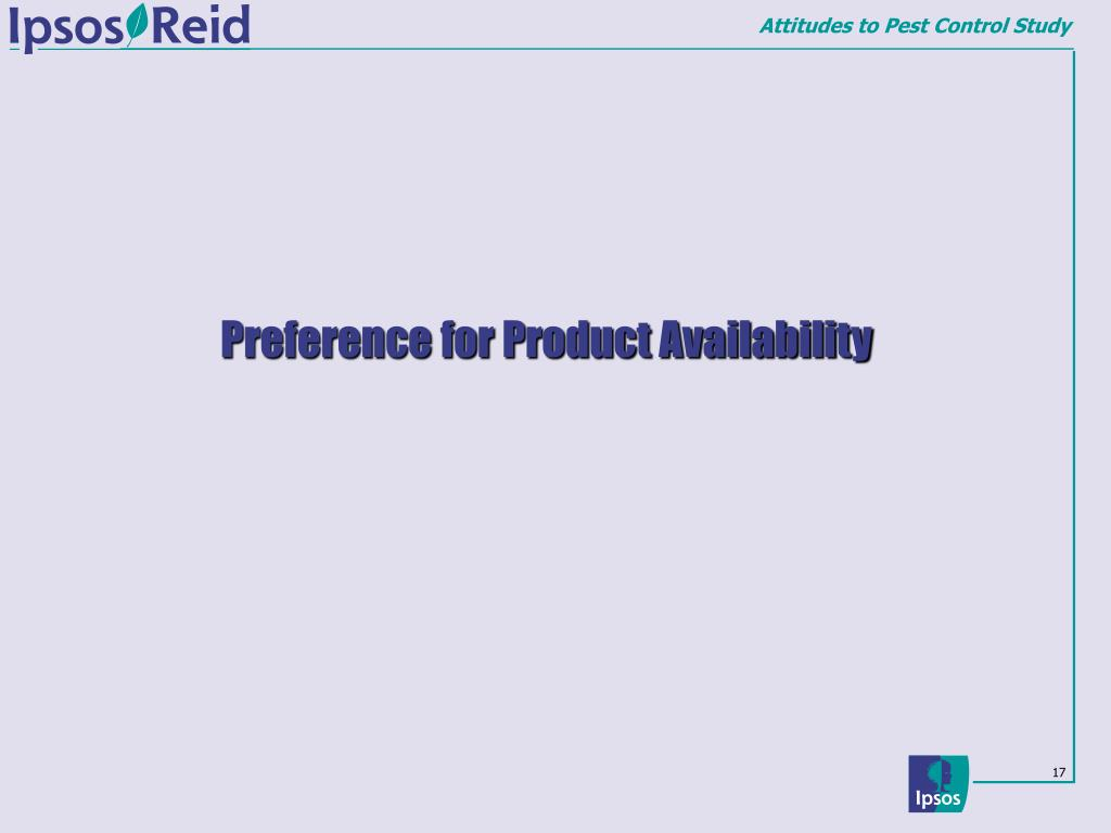 Preference for Product Availability