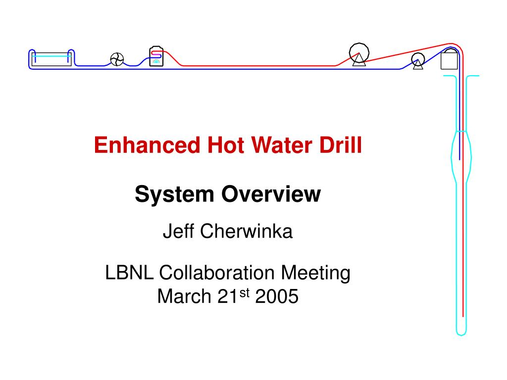 enhanced hot water drill l.