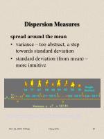 dispersion measures19
