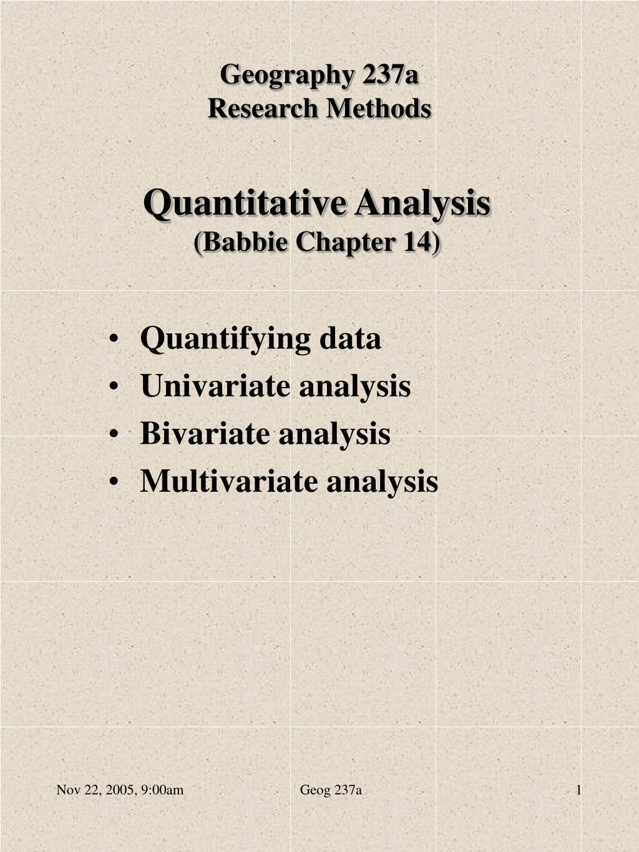 quantitative analysis babbie chapter 14 l.