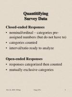 quantitifying survey data