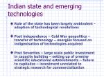 indian state and emerging technologies