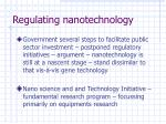 regulating nanotechnology