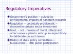 regulatory imperatives