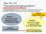 the 04 09 transitional generation