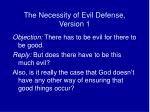 the necessity of evil defense version 1