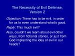 the necessity of evil defense version 2