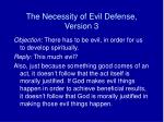 the necessity of evil defense version 3