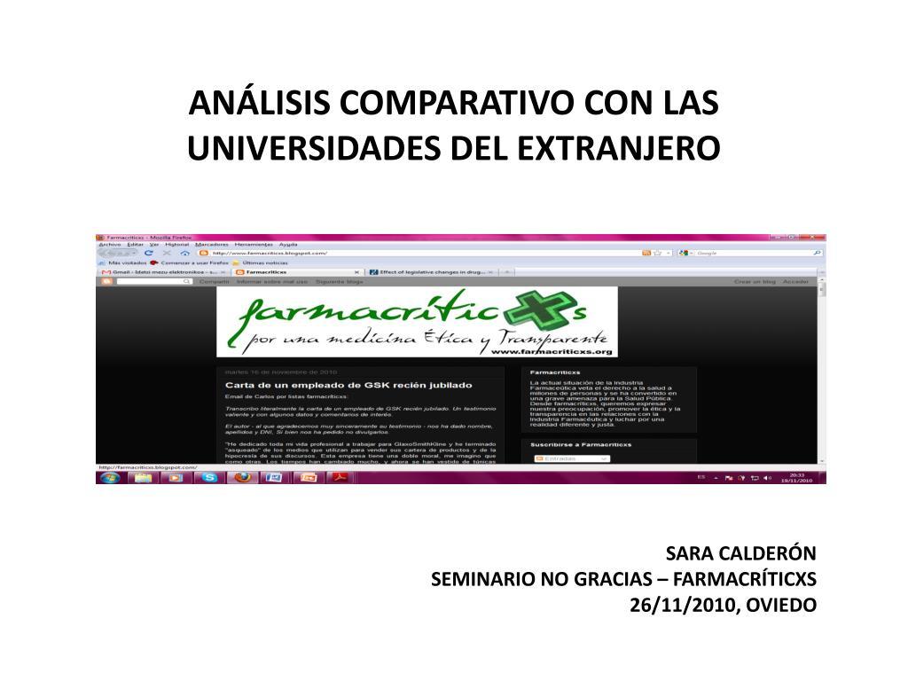 an lisis comparativo con las universidades del extranjero l.
