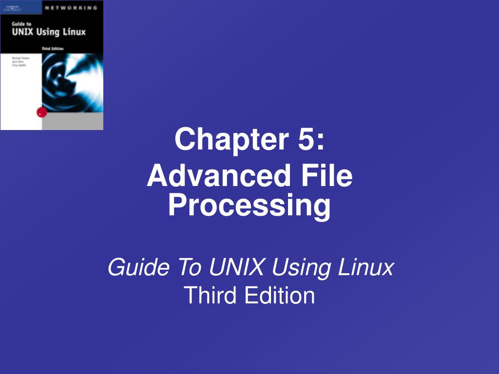 guide to unix using linux third edition l.