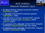 ace inhibition reduces radiation injury
