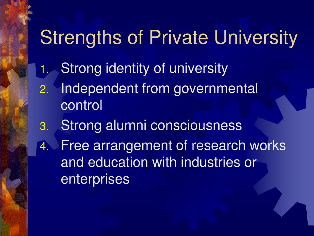 Strengths of Private University