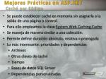 mejores pr cticas en asp net cach por c digo