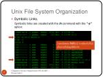 unix file system organization5