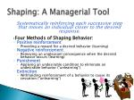 shaping a managerial tool