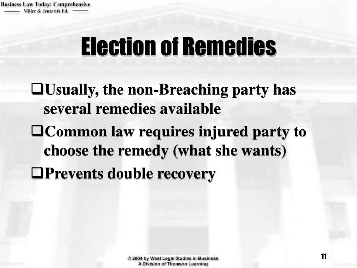 Election of Remedies
