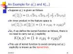 an example for f and k