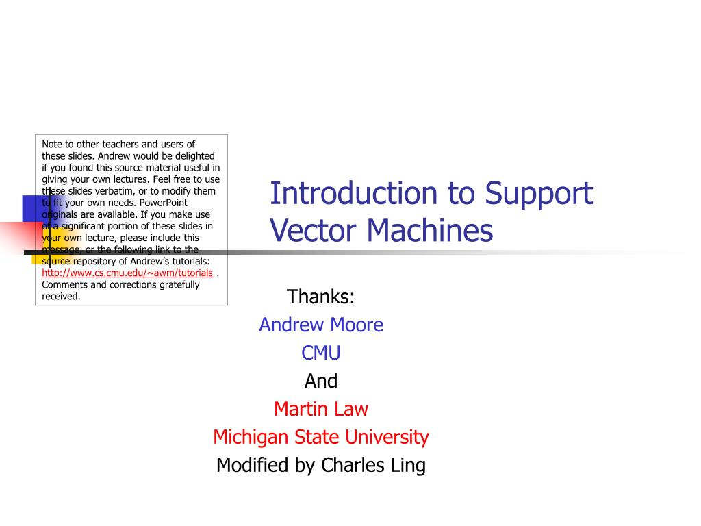 introduction to support vector machines l.