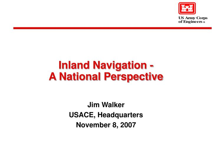 inland navigation a national perspective n.