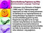 komunikatibong pagtuturo ng wika communicative language teaching