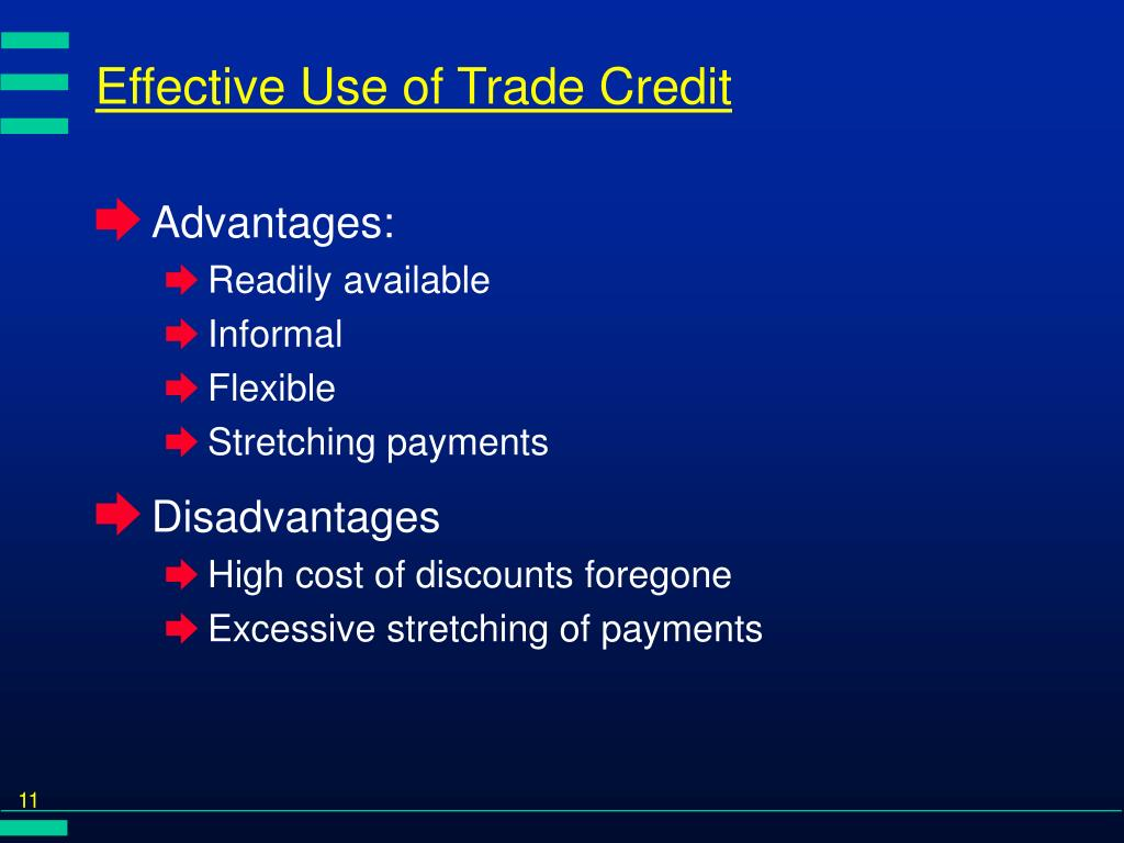 Effective Use of Trade Credit
