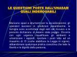 le questioni poste dall unasam quali inderogabili19