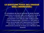 le questioni poste dall unasam quali inderogabili22