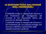 le questioni poste dall unasam quali inderogabili23
