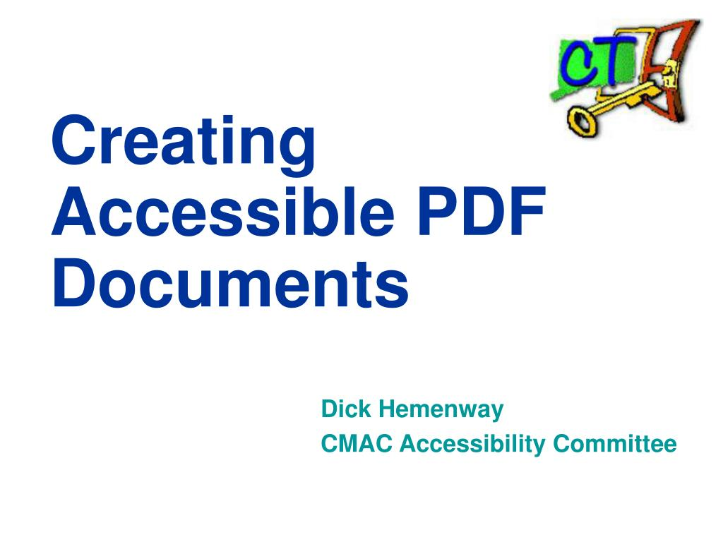 creating accessible pdf documents l.