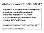 what about complete pci in stemi