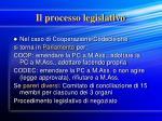 il processo legislativo14