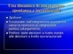una dinamica di integrazione spontanea e incrementale