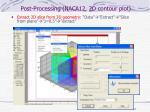 post processing naca12 2d contour plot