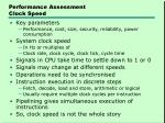 performance assessment clock speed