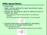 spec speed metric