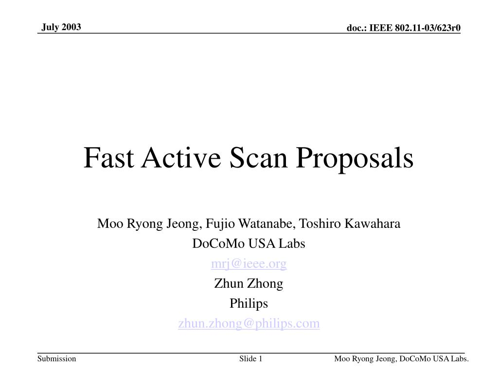 fast active scan proposals l.