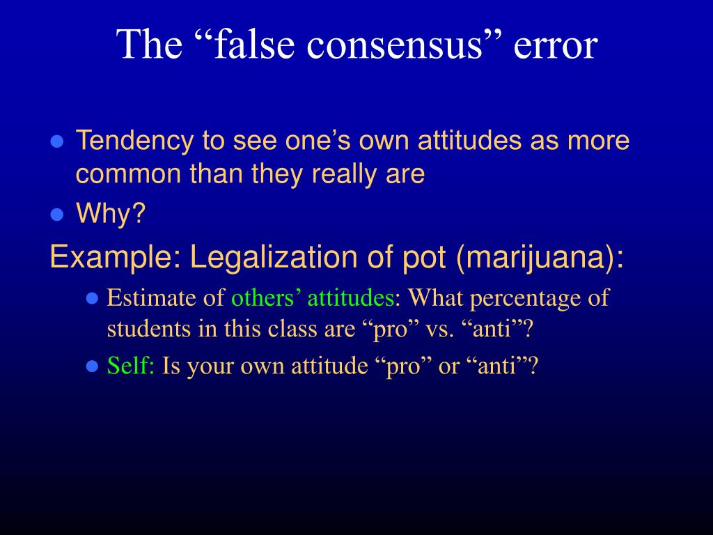 the false consensus error l.