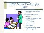 hpec school psychologist role