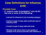 case definitions for influenza a h523